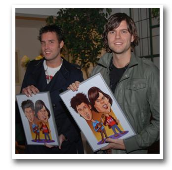 Nick en Simon karikatuur